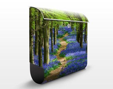 Briefkasten mit Zeitungsfach - Wanderweg in Hertfordshire - Hausbriefkasten