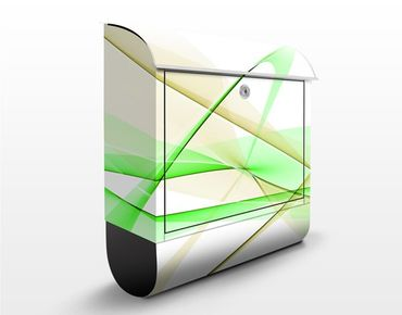 Briefkasten mit Zeitungsfach - Transparent Waves - Briefkasten modern