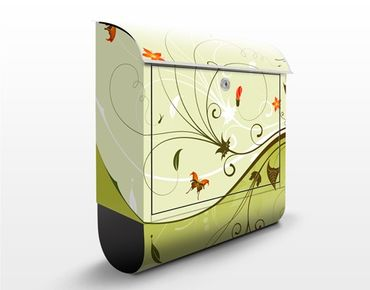 Briefkasten mit Zeitungsfach - Summertime - Wandbriefkasten