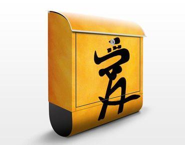 Wandbriefkasten - Love - Briefkasten Gelb