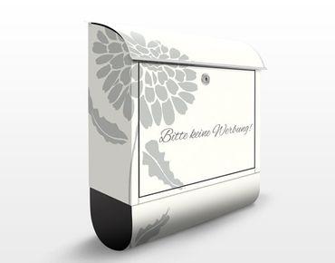 Briefkasten mit Zeitungsfach - No.JS322 Keine Werbung IV I- Briefkasten Blumen