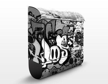 Wandbriefkasten - Graffiti Art - Briefkasten Grau