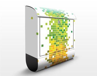 Wandbriefkasten - Pixel-Regenbogen - Briefkasten Bunt