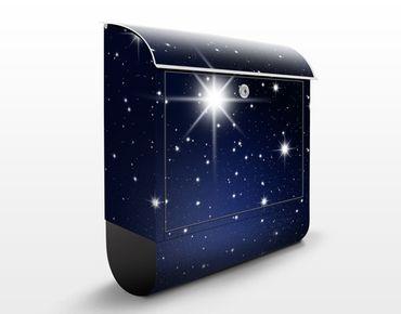 Wandbriefkasten - Stars - Briefkasten Schwarz