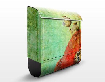 Briefkasten Vintage - Poppy Stalks - Briefkasten mit Zeitungsrolle