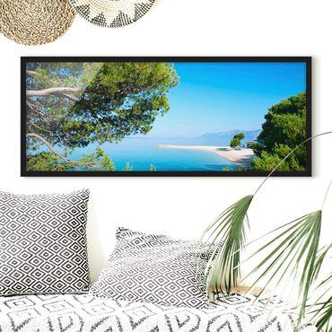 Bild mit Rahmen - Hidden Paradise - Panorama Querformat