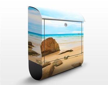Briefkasten mit Zeitungsfach - The Beach - Hausbriefkasten