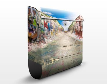 Wandbriefkasten - Skate Graffiti - Briefkasten Bunt