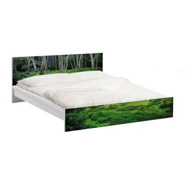 Möbelfolie für IKEA Malm Bett niedrig 160x200cm - Klebefolie Japanischer Wald