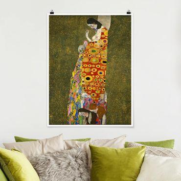 Poster - Gustav Klimt - Die Hoffnung II - Hochformat 3:4