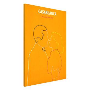 Magnettafel - Filmposter Casablanca - Memoboard Hochformat 3:2