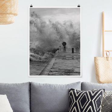 Poster - Tosendes Meer - Hochformat 3:4