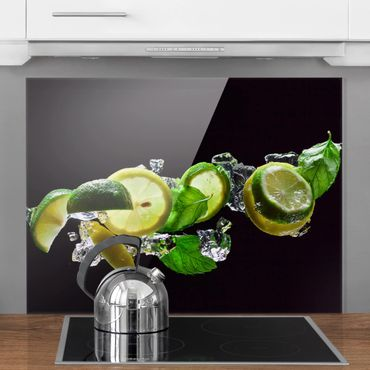 Glas Spritzschutz - Mojito Zutaten - Querformat - 4:3
