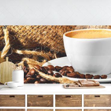 Küchenrückwand - Kaffee am Morgen