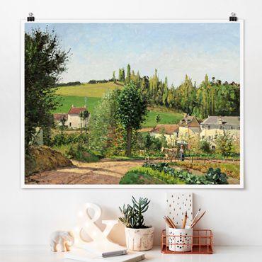Poster - Camille Pissarro - Kleines Dorf - Querformat 3:4