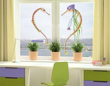 Fensterfolie - Fenstersticker Die kleine Seenadel© Herz - Fensterbilder