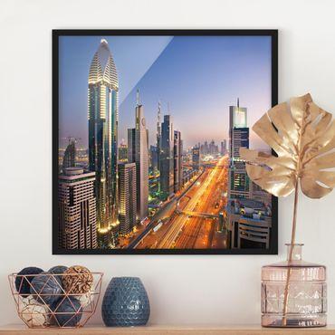 Bild mit Rahmen - Dubai - Quadrat 1:1