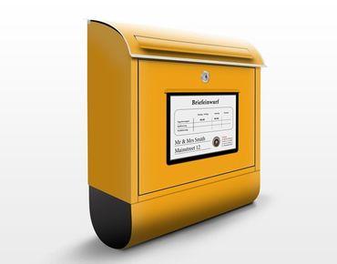 Deutscher Briefkasten - Wunschtext Postkasten - mit eigenem Text & Hausnummer