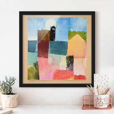 Bild mit Rahmen - Paul Klee - Mondaufgang - Quadrat 1:1