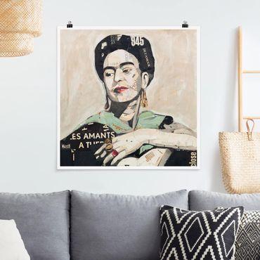 Poster - Frida Kahlo - Collage No.4 - Quadrat 1:1