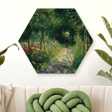Hexagon Bild Holz - Auguste Renoir - Frauen im Garten