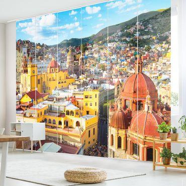 Schiebegardinen Set - Bunte Häuser Guanajuato - Flächenvorhänge
