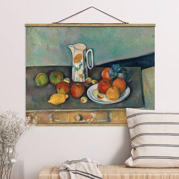 Stoffbild mit Posterleisten - Paul Cézanne - Stillleben Milchkrug - Querformat 3:4