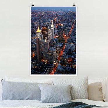Poster - Manhattan Lights - Hochformat 3:2