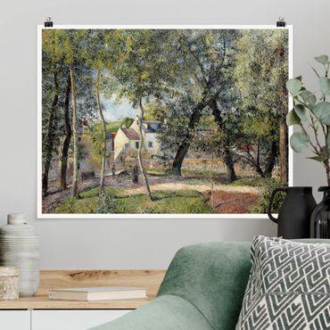 Poster - Camille Pissarro - Landschaft bei Osny - Querformat 3:4