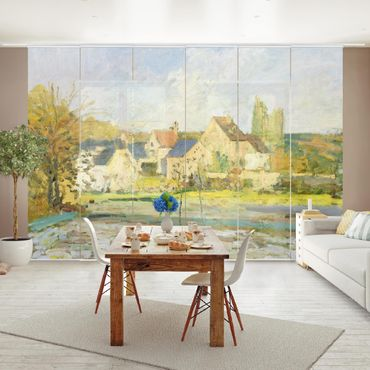 Schiebegardinen Set - Camille Pissarro - Landschaft bei Pontoise - Flächenvorhänge