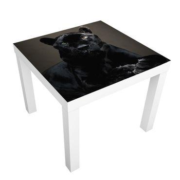 Möbelfolie für IKEA Lack - Klebefolie Black Puma