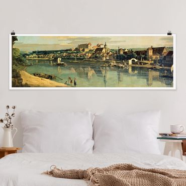 Poster - Bernardo Bellotto - Blick auf Pirna - Panorama Querformat