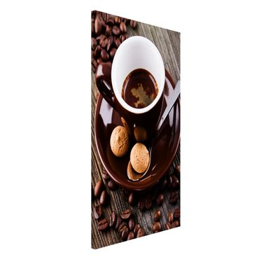 Magnettafel - Kaffeetasse mit Kaffeebohnen - Memoboard Hochformat 4:3