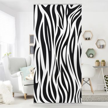 Raumteiler - Zebra Pattern 250x120cm