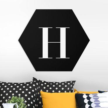 Hexagon Bild Forex - Buchstabe Serif Schwarz H