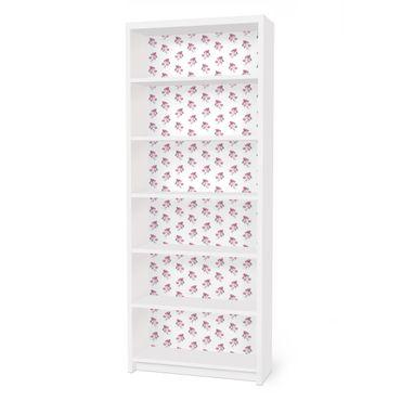 Möbelfolie für IKEA Billy Regal - Klebefolie Englische Teerosen