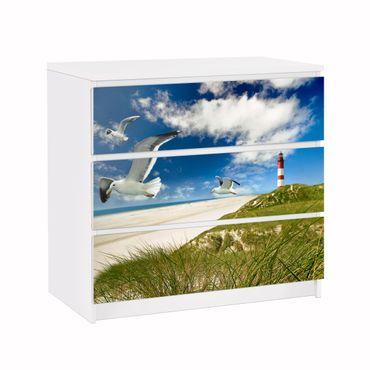 Möbelfolie für IKEA Malm Kommode - Klebefolie Dune Breeze