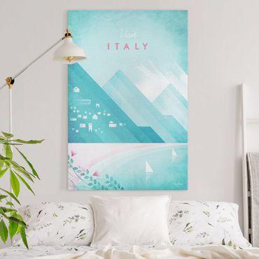 Leinwandbild - Reiseposter - Italien - Hochformat 3:2