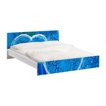 Möbelfolie für IKEA Malm Bett niedrig 180x200cm - KlebefolieTerra Azura