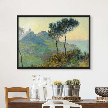 Bild mit Rahmen - Claude Monet - Varengeville Abendsonne - Querformat 3:4