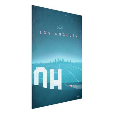 Forex Fine Art Print - Reiseposter - Los Angeles - Hochformat 4:3