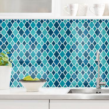 Küchenrückwand - Orientalisches Muster mit türkisen Ornamenten