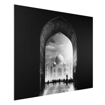 Forex Fine Art Print - Das Tor zum Taj Mahal - Querformat 3:4