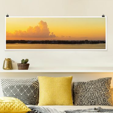 Poster - Mexiko Sonnenuntergang - Panorama Querformat