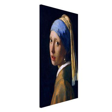Magnettafel - Jan Vermeer van Delft - Das Mädchen mit dem Perlenohrgehänge - Memoboard Hochformat 4:3