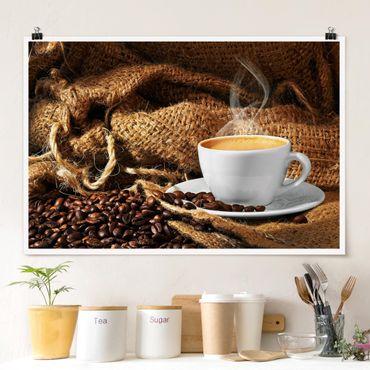 Poster - Kaffee am Morgen - Querformat 2:3