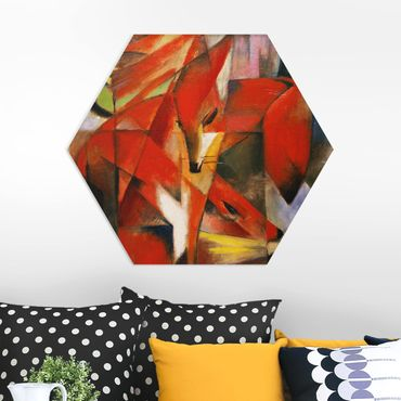 Hexagon Bild Forex - Franz Marc - Füchse