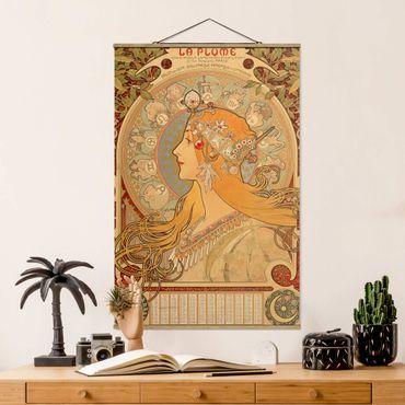 Stoffbild mit Posterleisten - Alfons Mucha - Sternkreiszeichen - Hochformat 3:2
