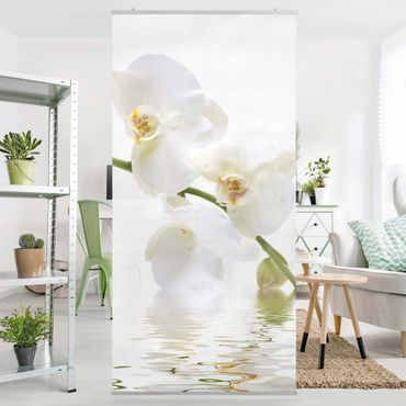 Raumteiler - White Orchid Waters 250x120cm