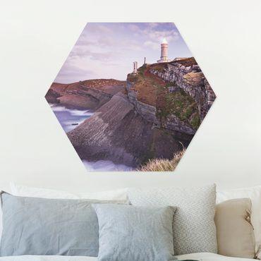 Hexagon Bild Forex - Steilküste und Leuchtturm